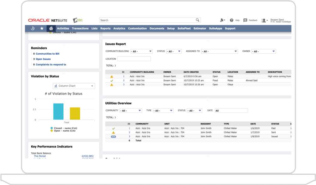 NetSuite property community management